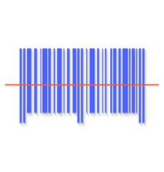 Scanning bar code red laser line vector