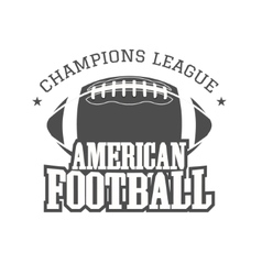 American football champions league badge logo vector