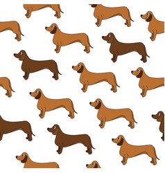 Awesome seamless pattern with cute cartoon dogs vector