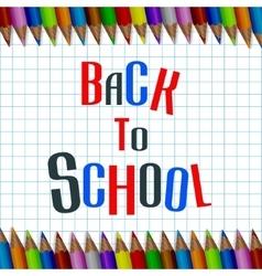 Backschool vector image