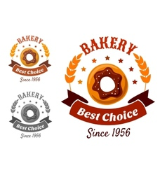 Bakery emblem with cookie vector