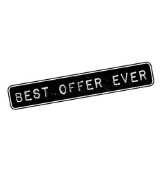 Best Offer Ever rubber stamp vector image