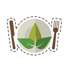 cartoon vegetarian food diet health vector image