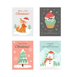 Christmas cards 3 vector