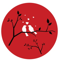 Couple of love birds vector
