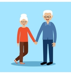 Couple old men and women vector image vector image