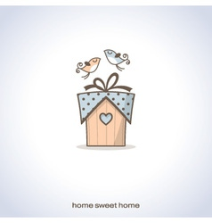Cute home gift vector