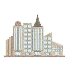 Drawing building corporate town vector