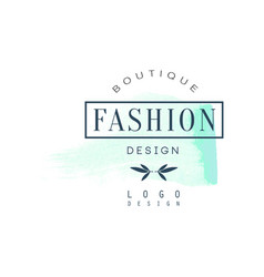 Fashion boutique logo design badge for clothes vector