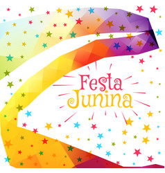 Festa junina celebration colorful background vector