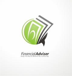 Financial adviser logo design vector