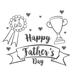 Happy father day design hand draw vector