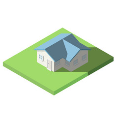 isometric of house on the grass for icon vector image