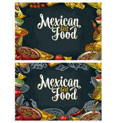 Mexican traditional food restaurant menu template vector