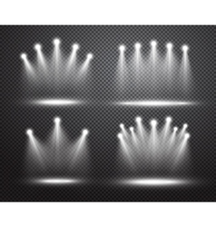 Set of realistic spotlights lighting vector image
