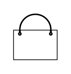 shopping bag black color icon vector image vector image