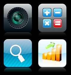 Square high-detailed app icons vector image