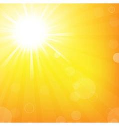 Sun With Sunburst vector image vector image