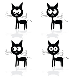 sweet and fuuny cat vector image vector image