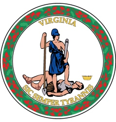 Virginia seal vector image vector image