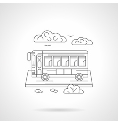 Passenger bus detailed line vector