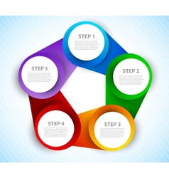Colorful circles diagram vector