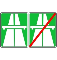 Green freeway signs on vector