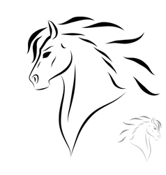 Stylized head horse vector