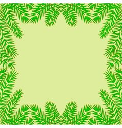 Frame of the branches of spruce vector