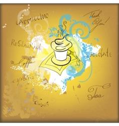 coffee sketch vector image
