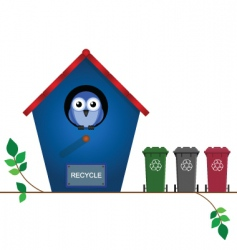 bird recycle vector image