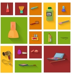Beauty spa objects icon set flat design vector