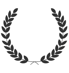 A laurel wreath - symbol of victory and vector