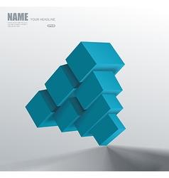 3d blue cube vector image