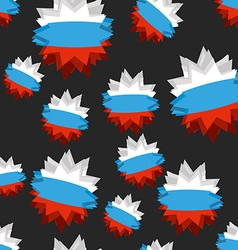 Star russian flag seamless pattern background of vector