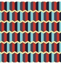 geometric beige red blue background pattern icon vector image