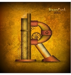 Steam punk letter vector image