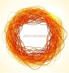 Absract orange circle background with lines vector image vector image