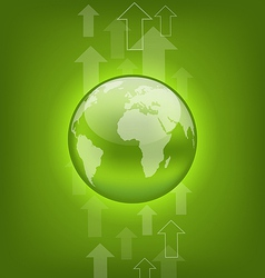 Abstract hi-tech background with symbol Earth vector image
