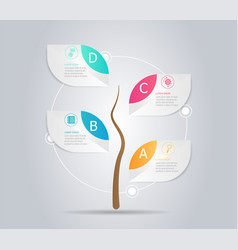 abstract tree infographic element background vector image vector image
