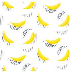 banana pop art seamless pattern on white vector image vector image