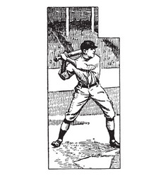 Baseball player vintage vector