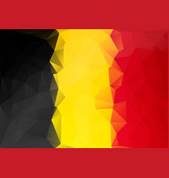 belgium flag low poly style yellow red black vector image vector image