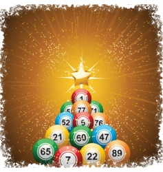 bingo ball Christmas vector image
