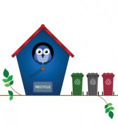 bird recycle vector image vector image