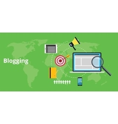 Blogging stuff and for blogger vector