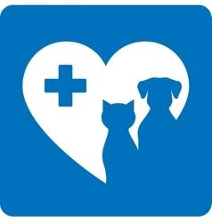 blue veterinary icon vector image