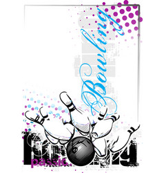 bowling poster background vector image vector image