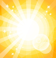 Bright background with rays vector image vector image