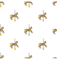 Carousel for children horse on the pole for vector